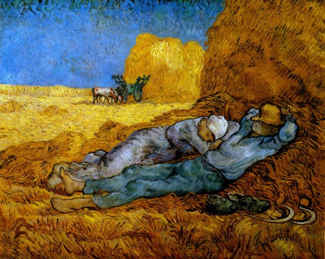Van Gogh - Rest Work after Millet 1890