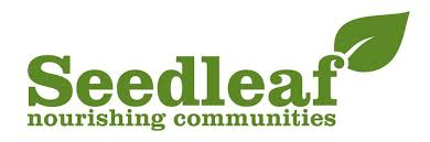 Seedleaf logo - white